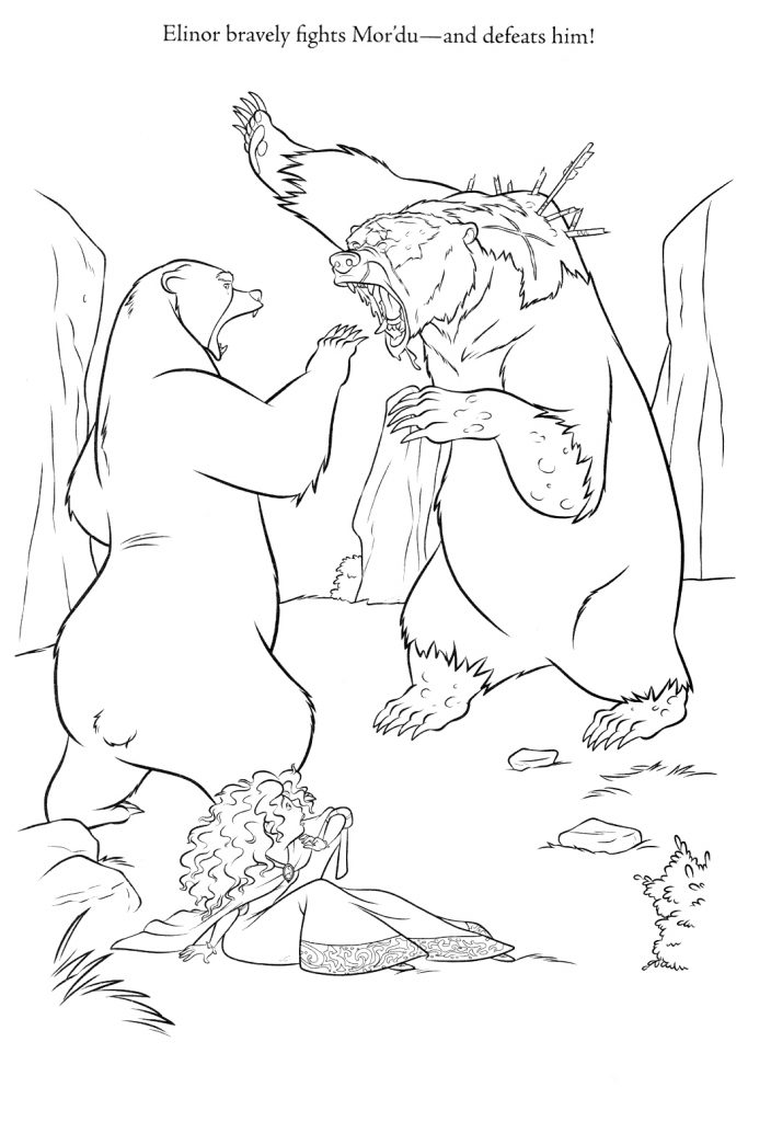 Brave Coloring Pages - Elinor fights