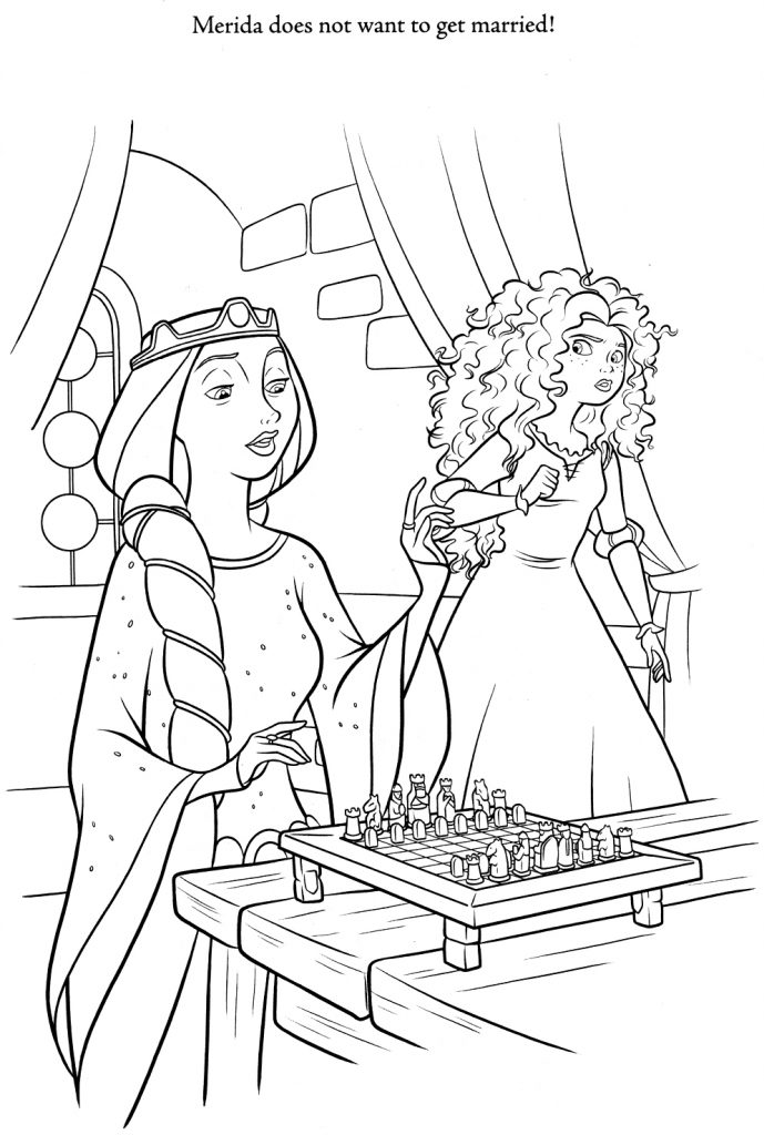 Brave Coloring Pages - Merida says no
