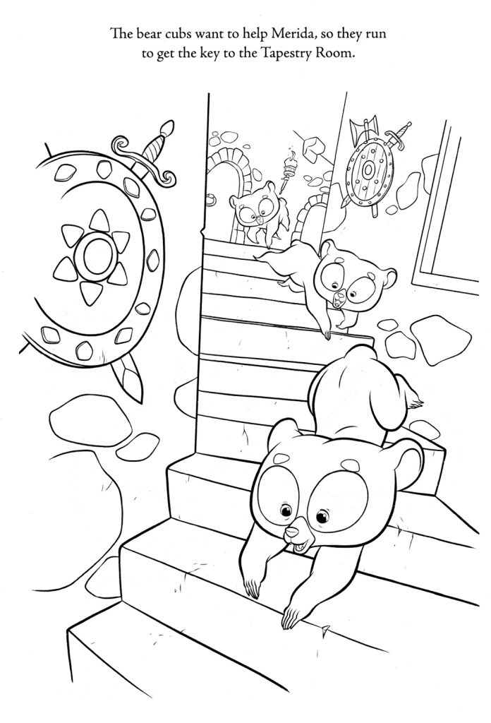 Brave Coloring Pages - brother bears