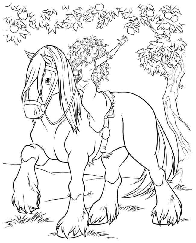 Brave Coloring Pages Of Merida