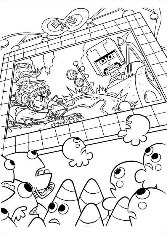 Color Wreck-it Ralph Coloring Pages
