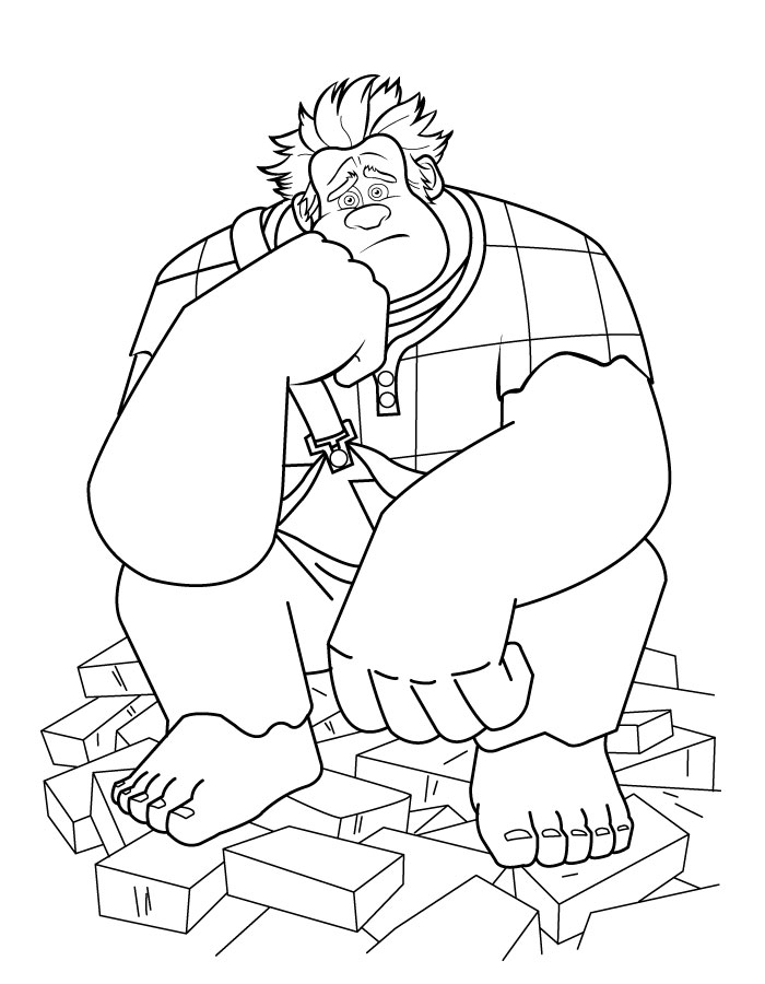 Color Wreck-it Ralph Coloring Pictures