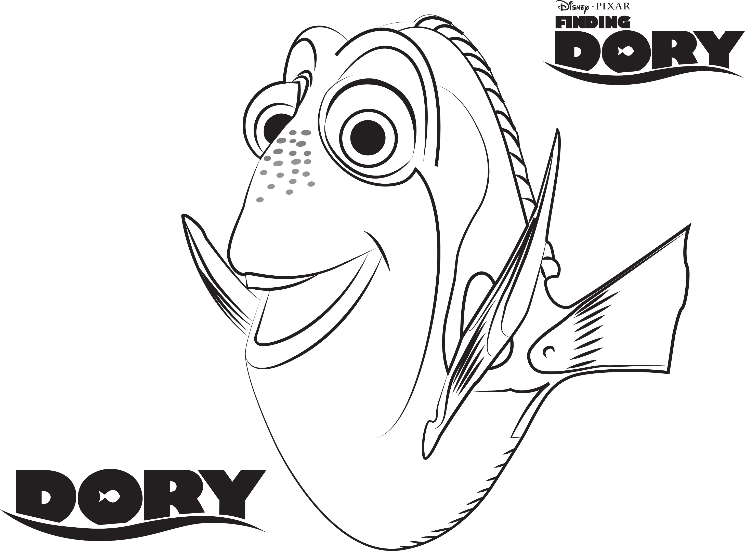 Free Dory Coloring Pages