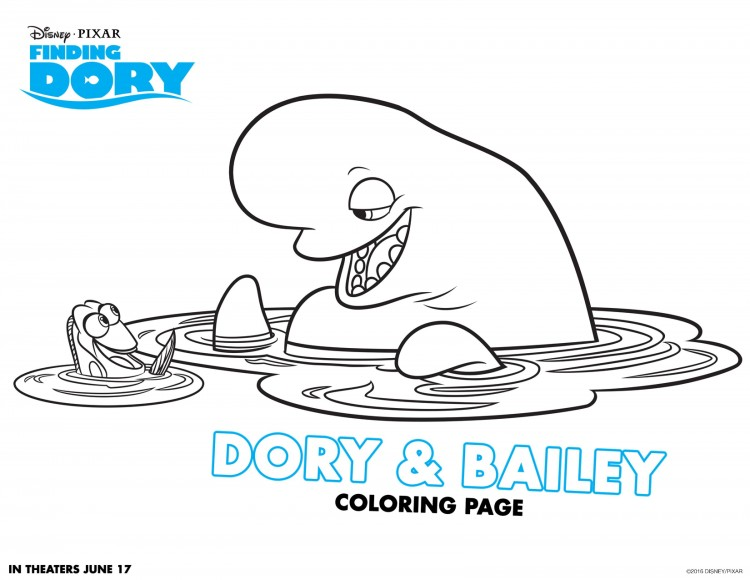 Dory and Bailey Coloring Page