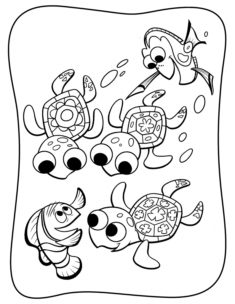 Download Dory Coloring Pages