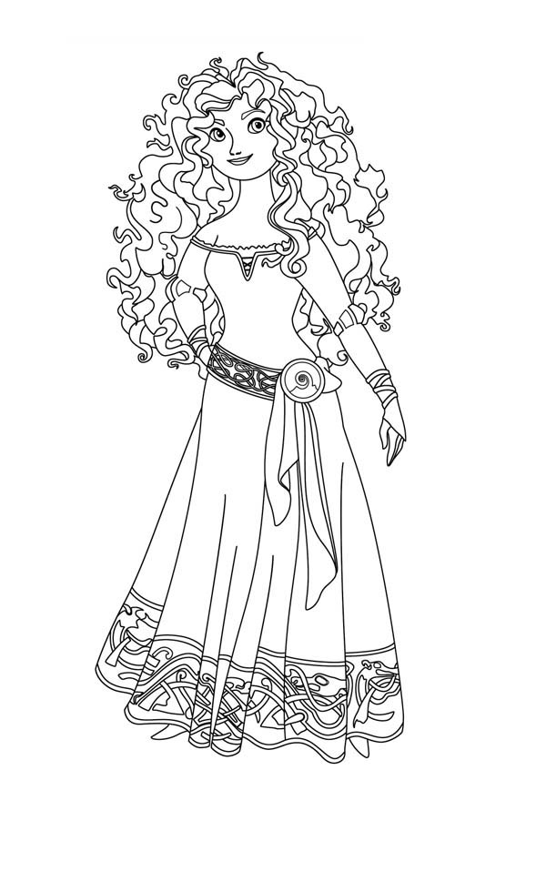 Free Brave Coloring Pages   Merida