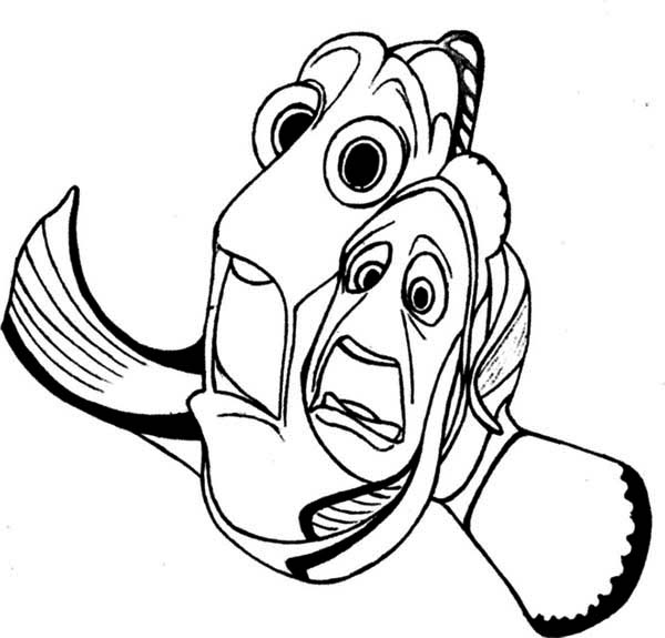 Free Dory Coloring Page