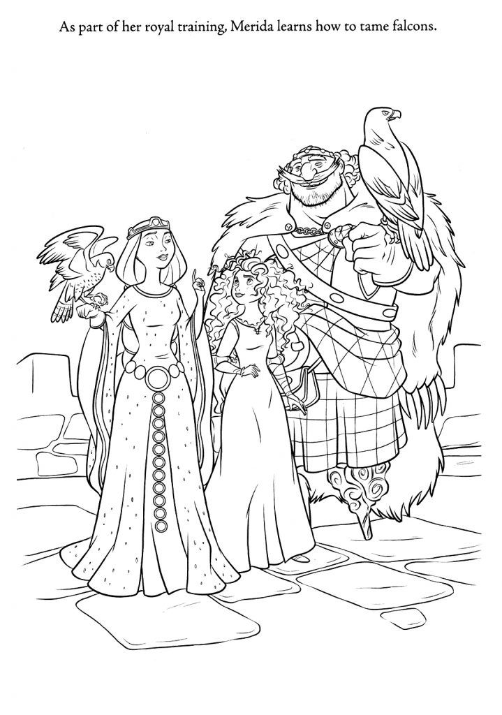 Free Printable Brave Coloring Pages