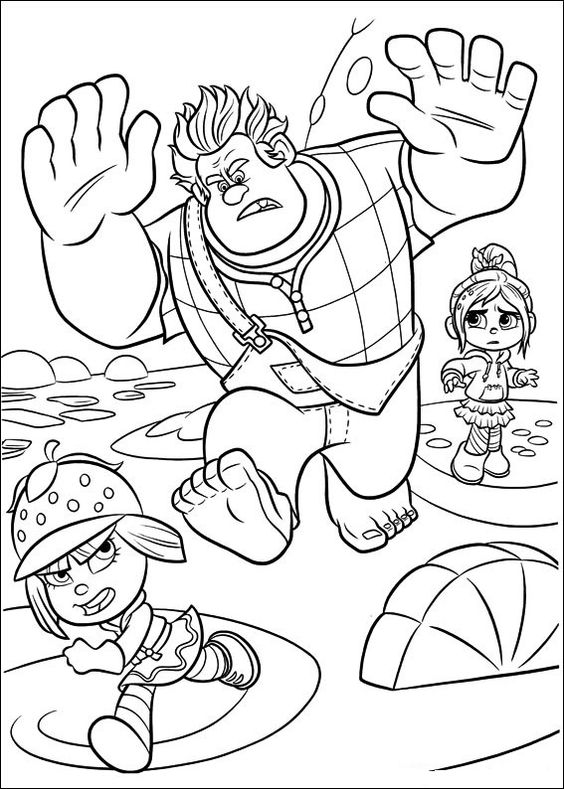 Free Printable Wreck-it Ralph Coloring Pages