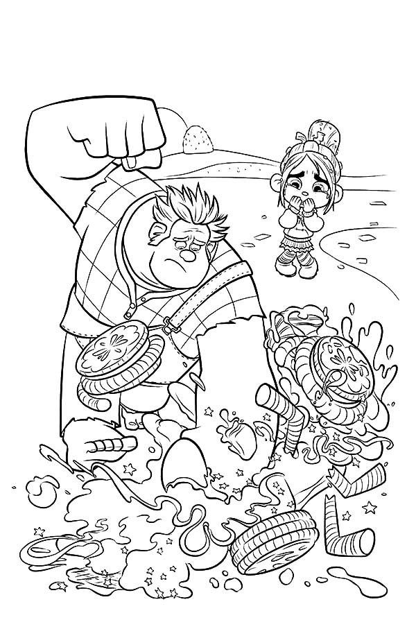Free Printable Wreck-it Ralph Coloring Pictures