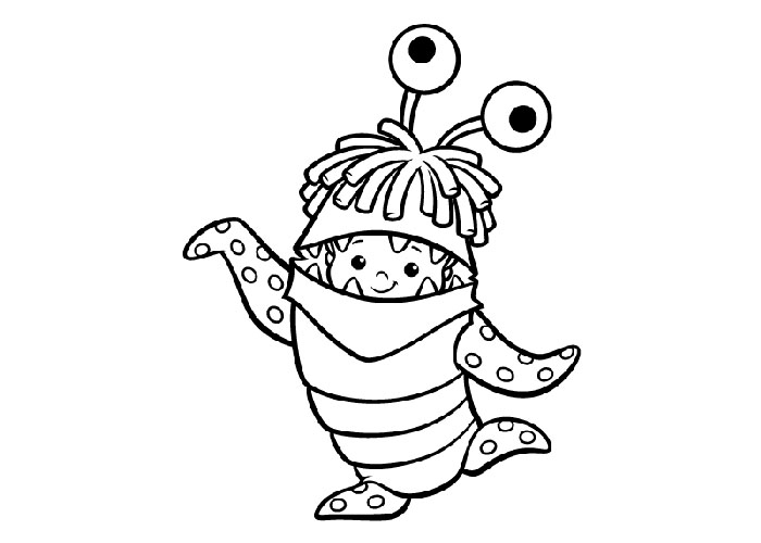 Monsters Inc Coloring Pages Boo in Disguise