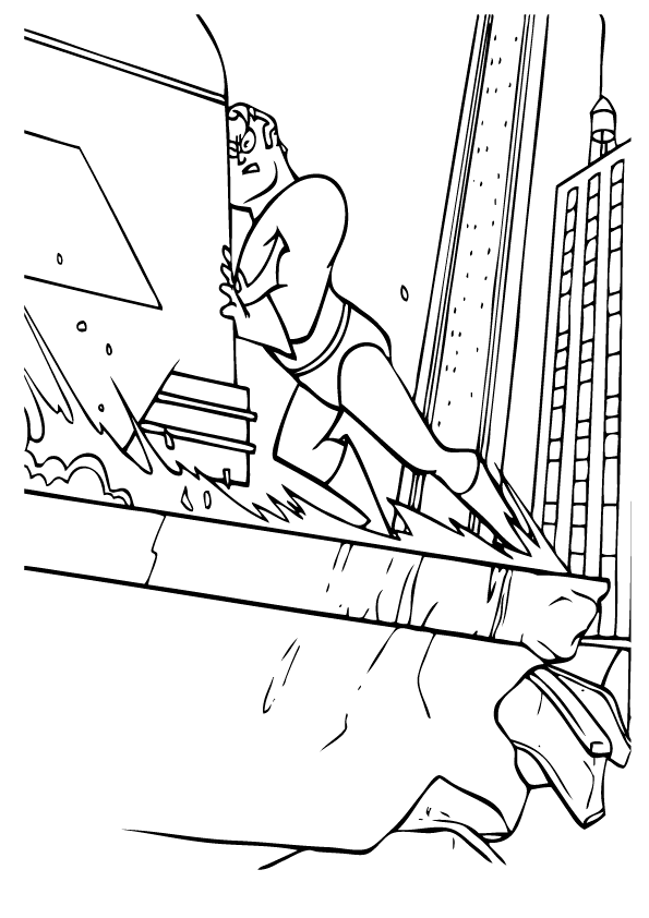 Print Incredibles Coloring Pages Free