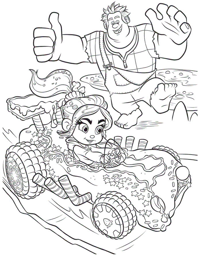Print Wreck-it Ralph Coloring Pictures
