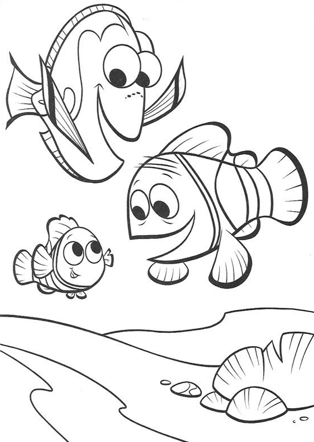 Printable Dory Coloring Pages