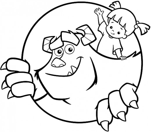 Monsters Inc Boo Coloring Pages, Monsters Inc Coloring - Monsters ... | 454x520