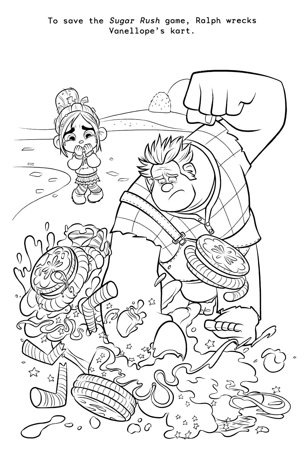 Printable wreck it ralph coloring pages