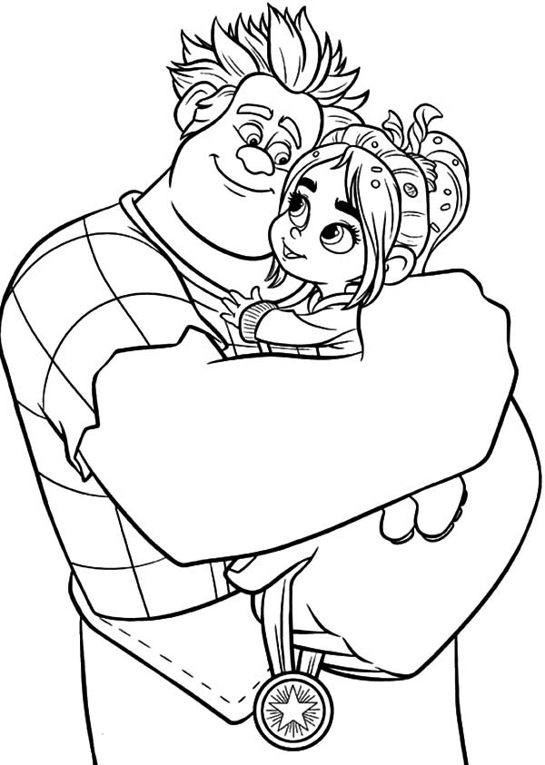 Printable Wreck-it Ralph Coloring Pictures