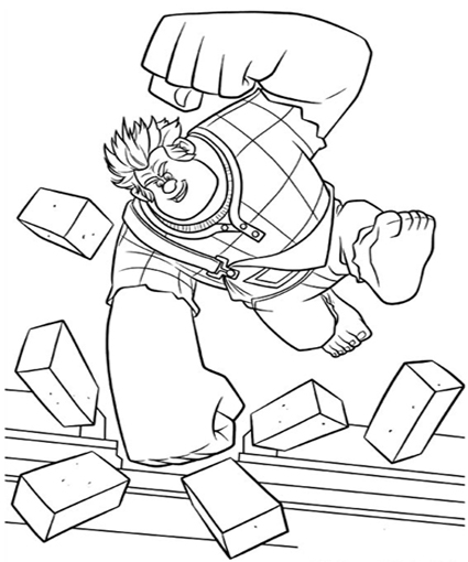 Wreck-it Ralph Coloring Pictures
