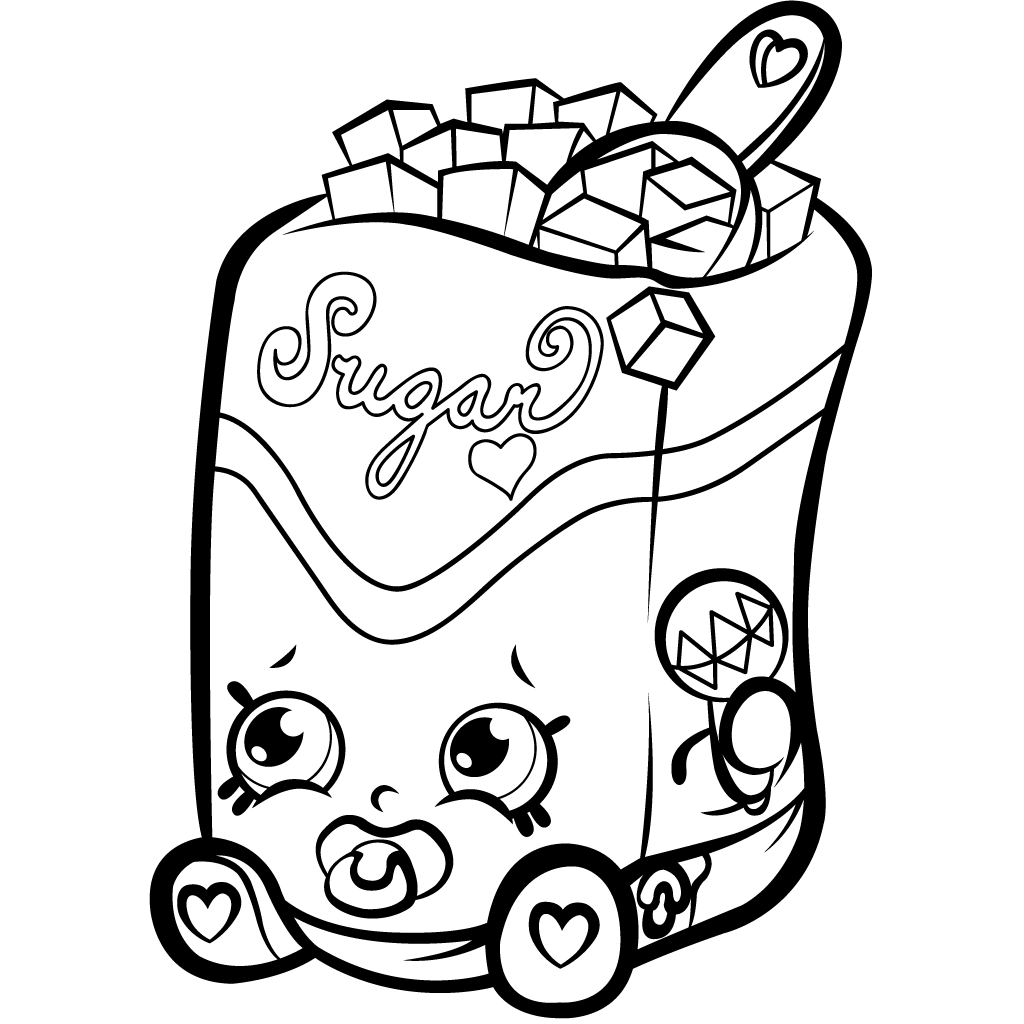 Lovely Color Free Shopkins Coloring Page