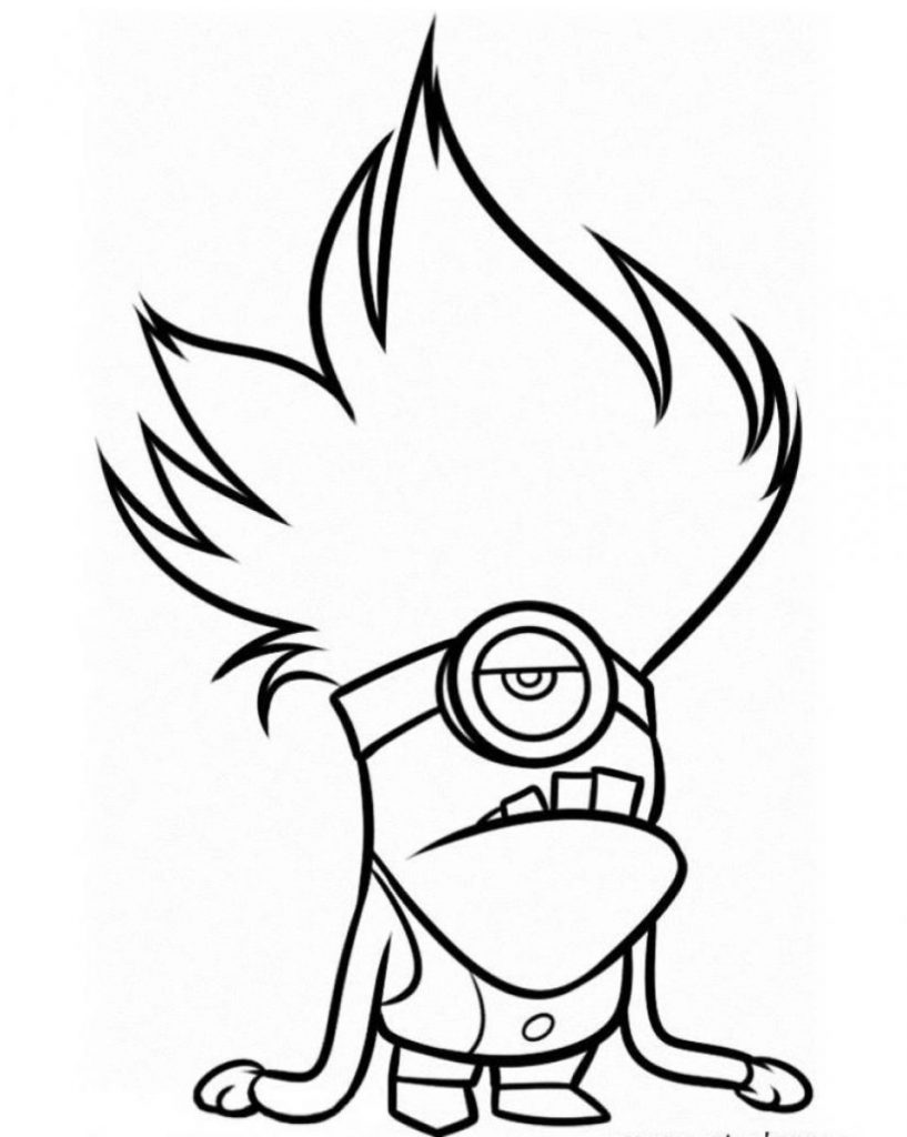 Free Minion Coloring Pages Printable