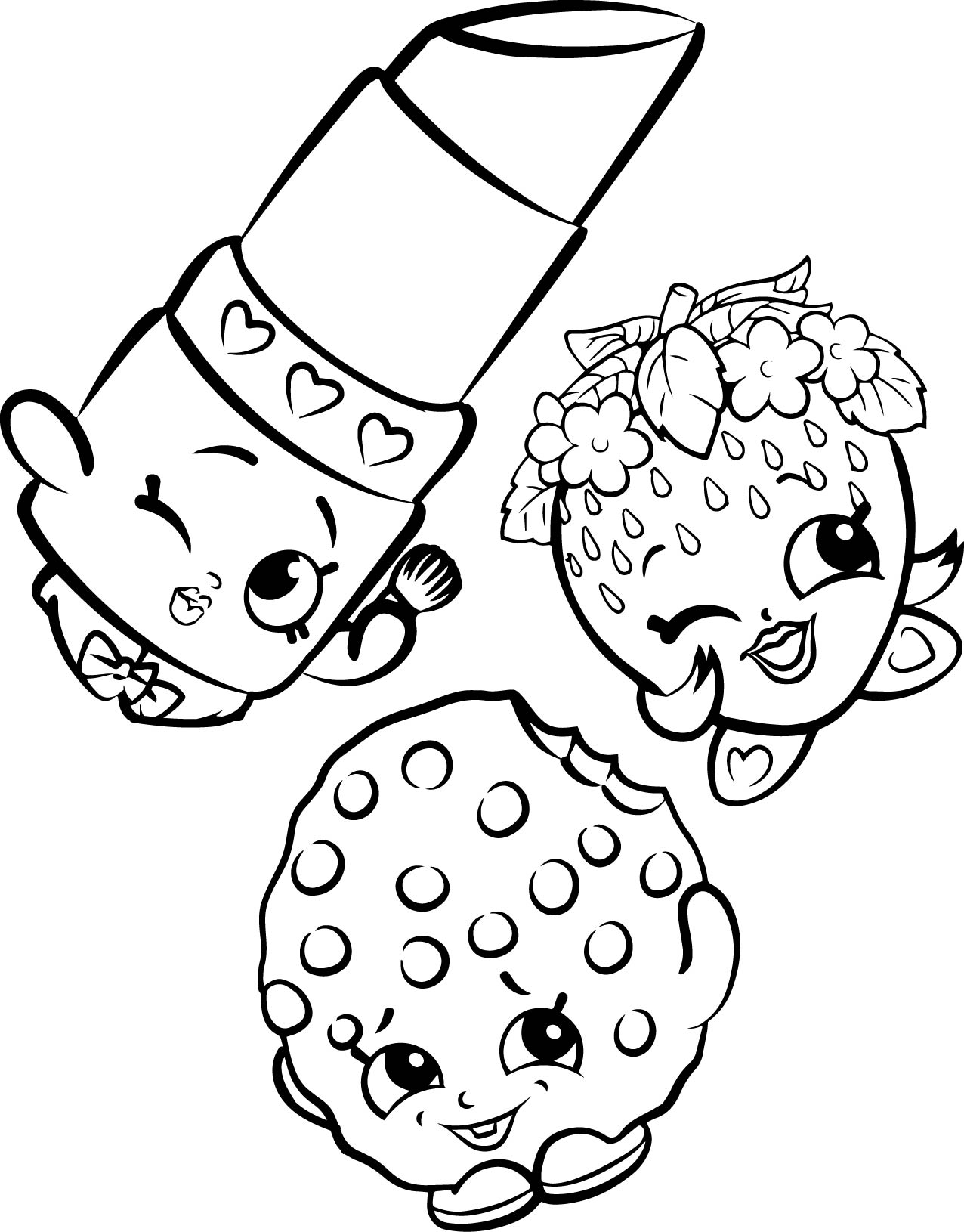 Good Free Shopkins Coloring Pages Images