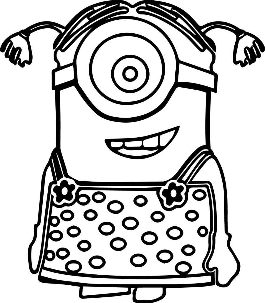 Minion Coloring Page Printable