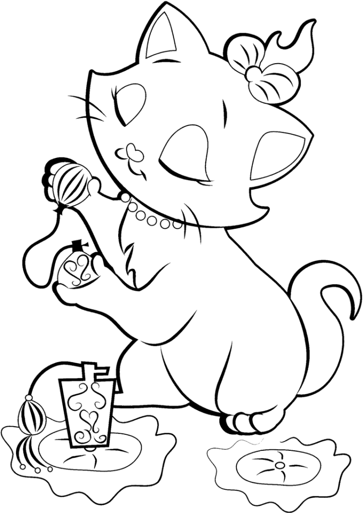 Print Aristocats Coloring Page Free