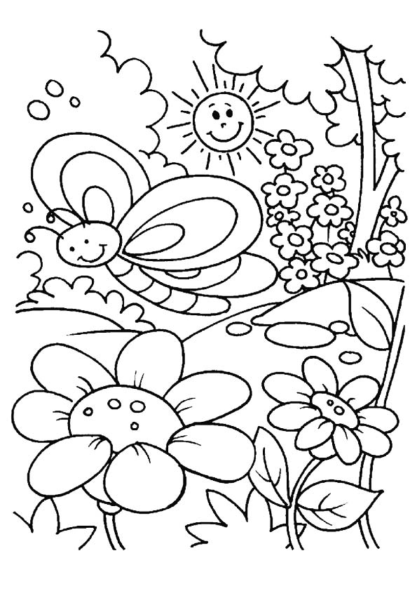 Print Spring Coloring Pages
