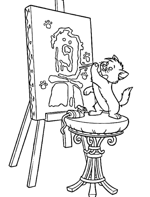 aristocats toulouse coloring pages - photo#31