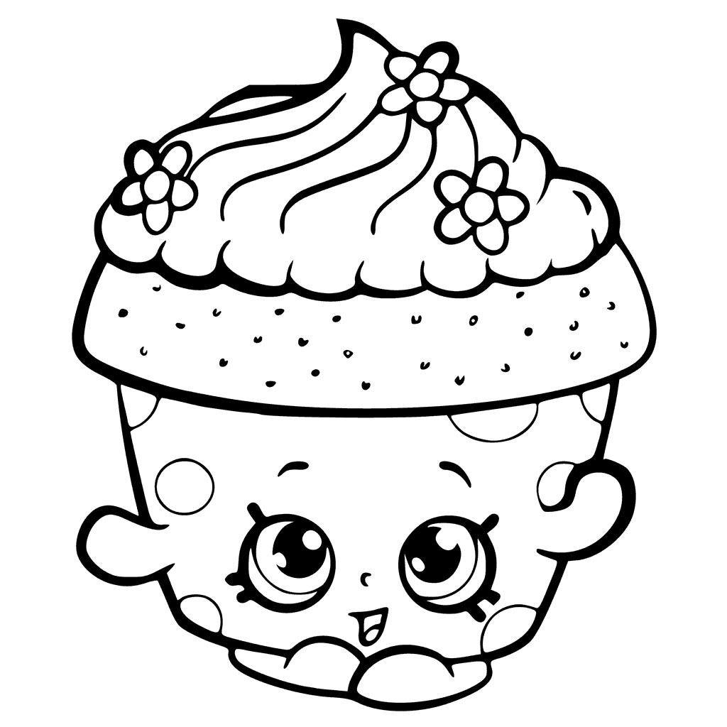 Shopkins coloring pages best coloring pages for kids for Cupcake color pages