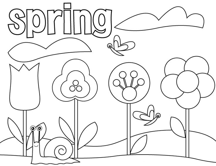 Spring Bulbs Flowering Coloring Page
