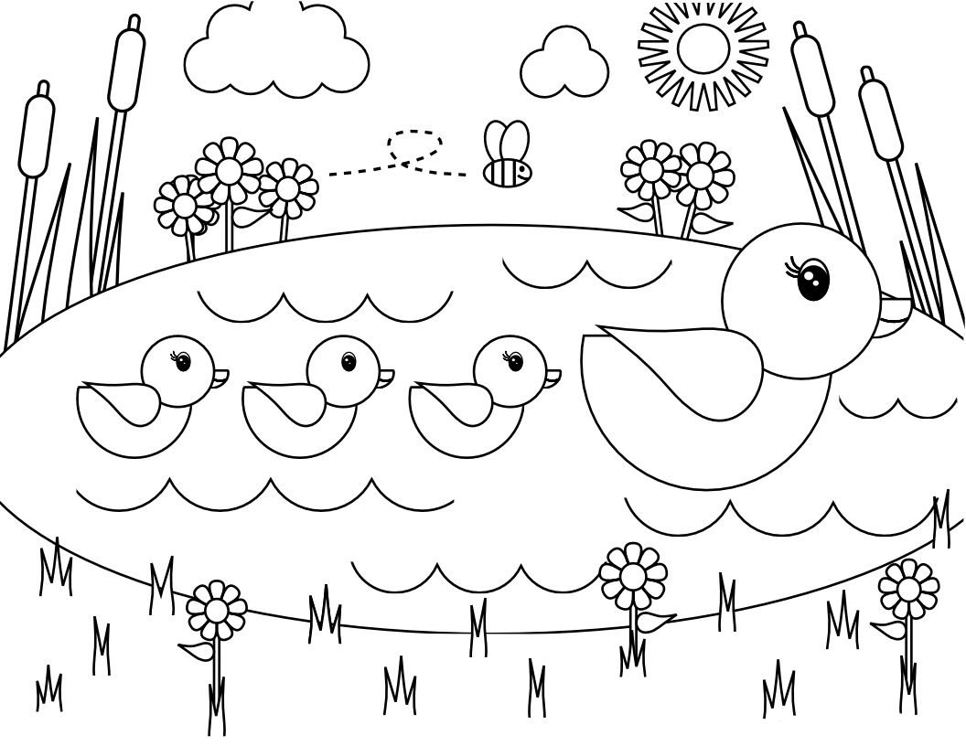 Spring Coloring Pages Best Coloring