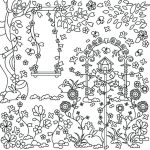 Spring Flower Scene Coloring Page