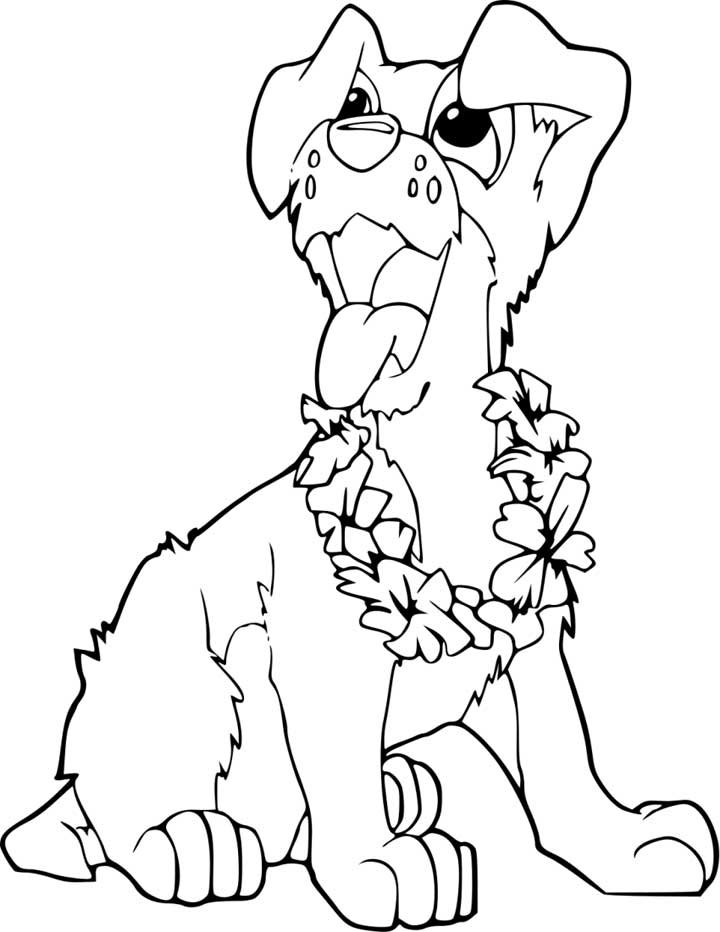 Adorable Puppy Coloring Page