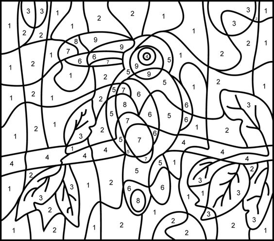Adult Color By Numbers - Best Coloring Pages For Kids