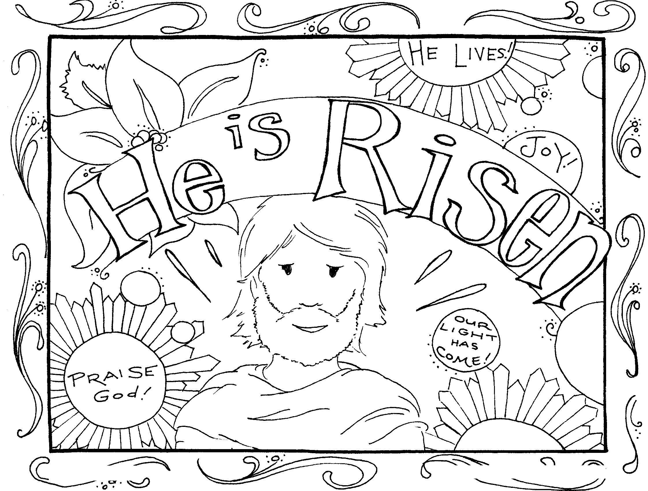 he is risen coloring pages Easter Coloring Pages   Best Coloring Pages For Kids he is risen coloring pages