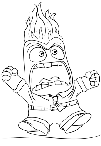 Awesome Anger Inside Out Coloring Page