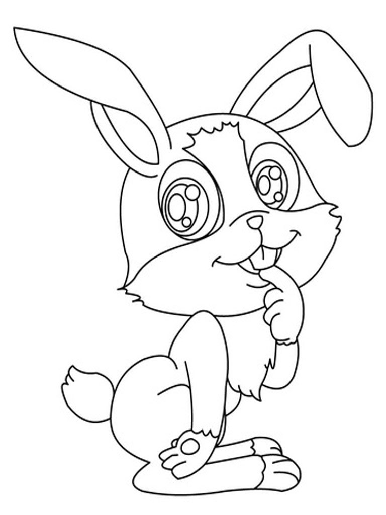 Exhilarating image for printable bunny coloring pages