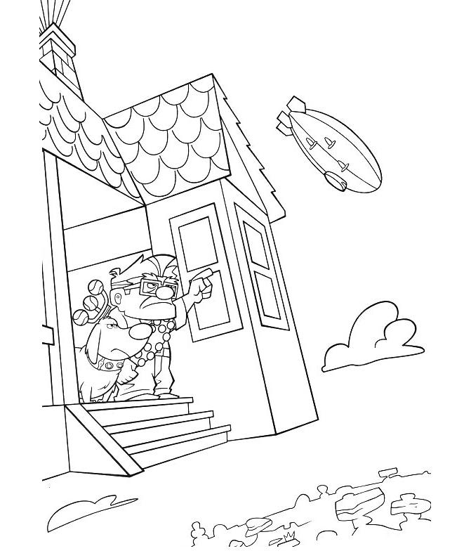 Download Free Up Coloring Page