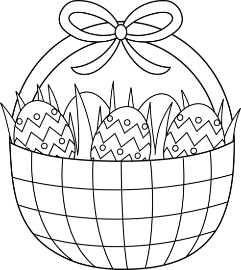 Easter Basket Coloring Page Printable