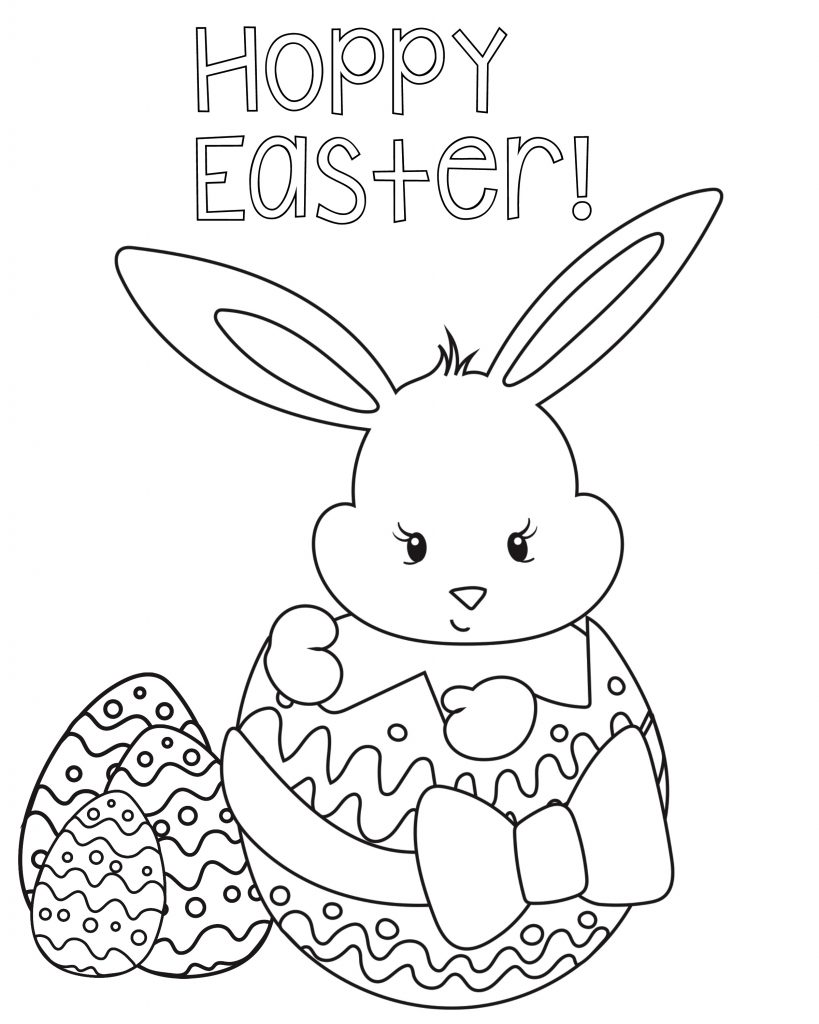 Free Happy Easter Coloring Pages X on christian easter egg coloring pages