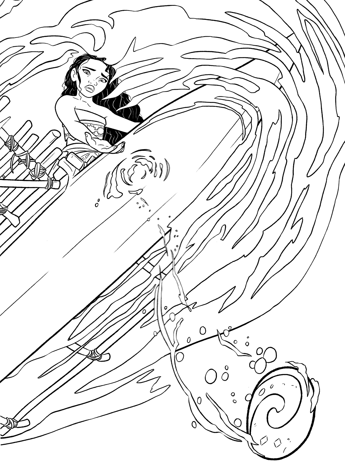 picture relating to Moana Sail Printable known as Moana Coloring Web pages - Simplest Coloring Internet pages For Little ones