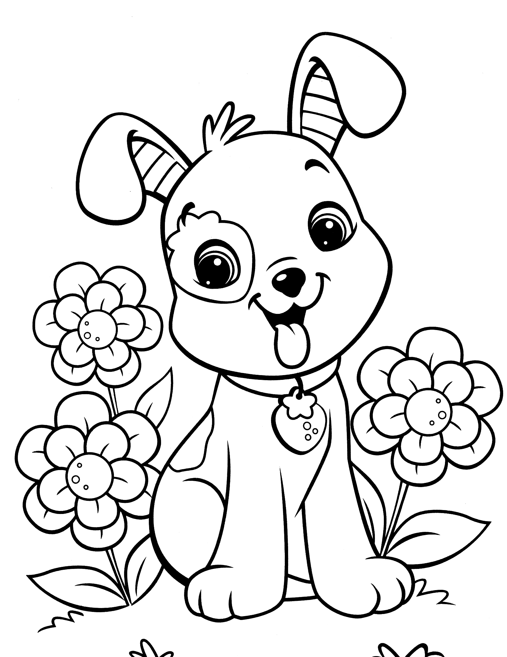 graphic about Puppy Printable titled Canine Coloring Webpages - Most straightforward Coloring Internet pages For Youngsters