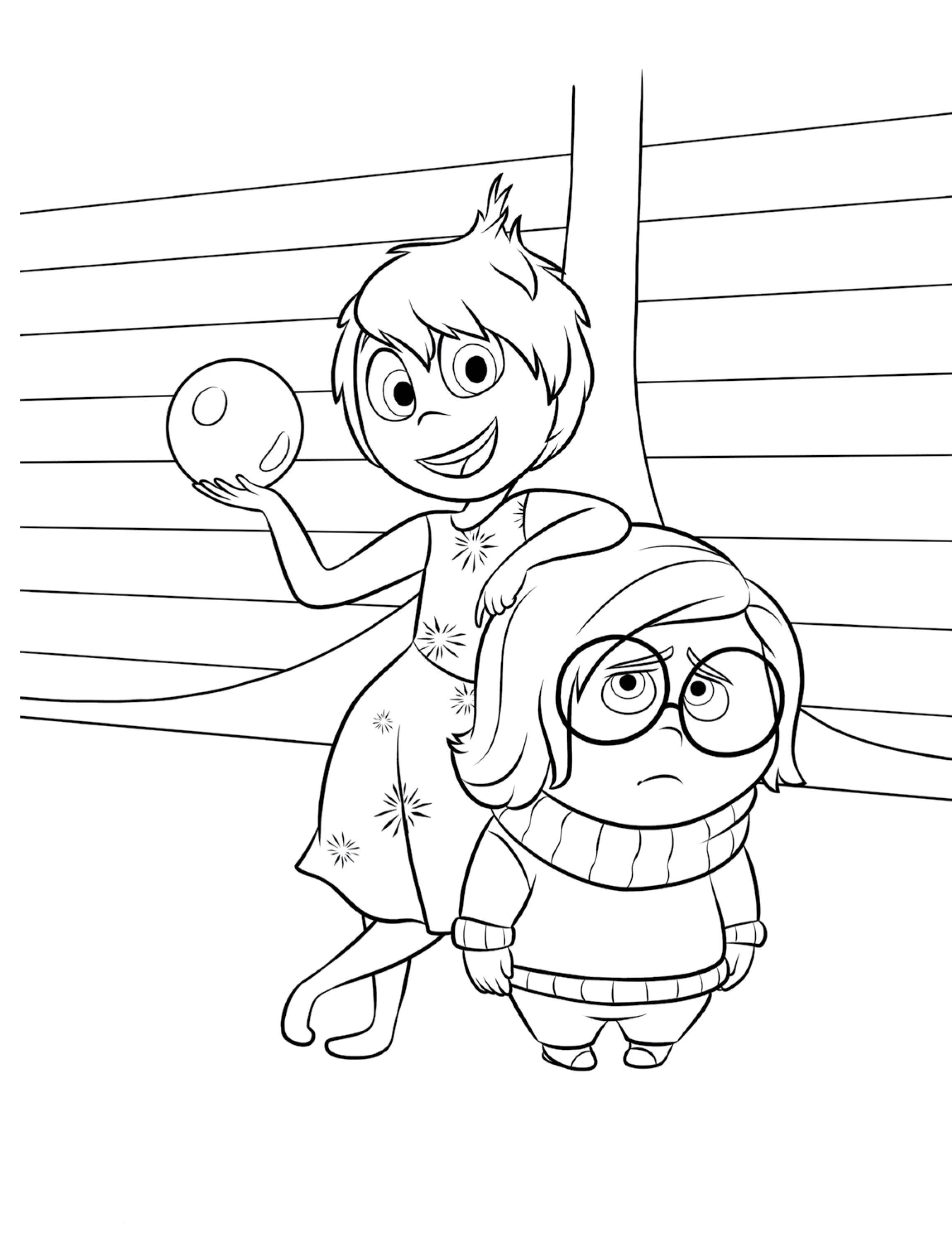 Inside Out Coloring Page Printables