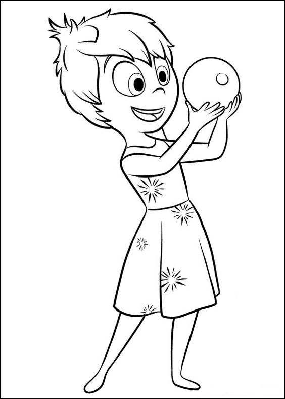 Inside Out Coloring Pages Best