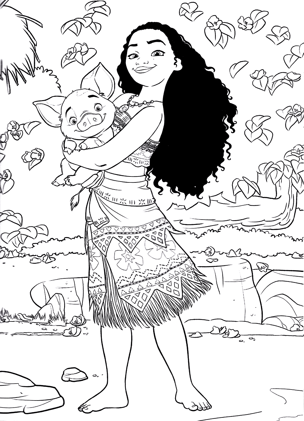 Moana Pictures Printable Coloring Pages