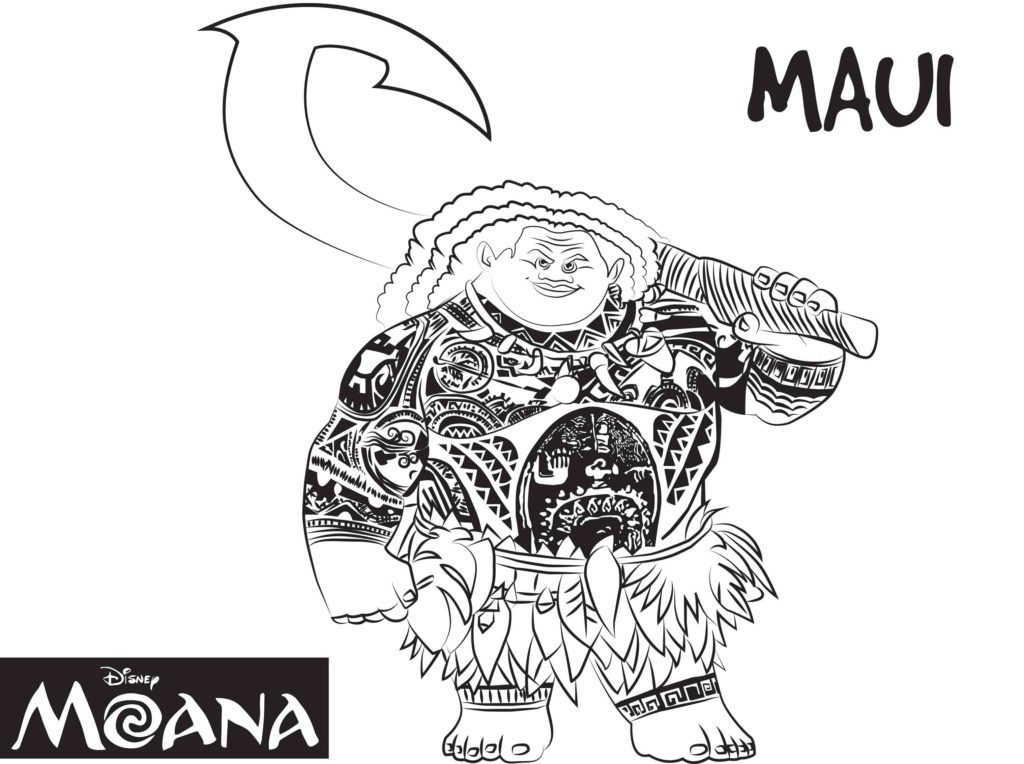 Moana Coloring Pages - Maui