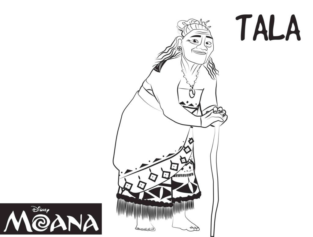 Moana Coloring Pages - Tala