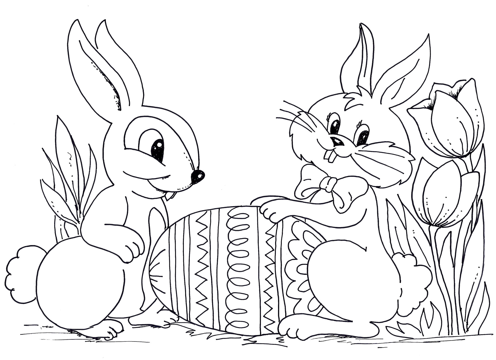 Large Printable Easter Coloring Pages