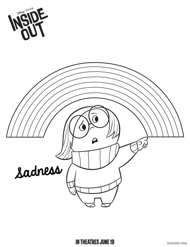 Sadness Inside Out Coloring Page